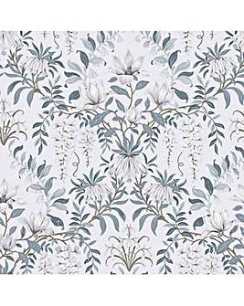 Laura Ashley Parterre Off White/Seaspray Wallpaper