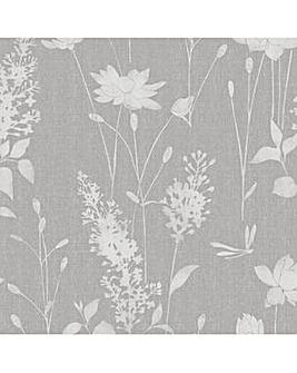 Laura Ashley Dragonfly Garden Steel Wallpaper