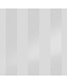 Laura Ashley Lille Pearlescent Stripe Silver Wallpaper