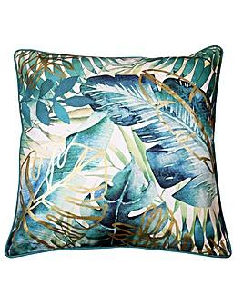 Arthouse Tropical Leaf  Cushion