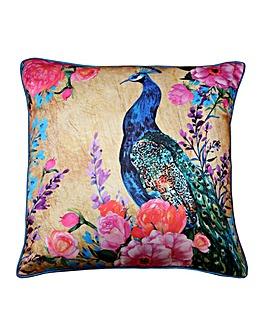 Arthouse Bright Floral Peacock Cushion