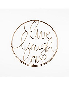 Art for the Home Live Laugh Love Gold Metal Wall Art