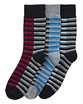 Ben Sherman Pack of 3 Stripe Socks