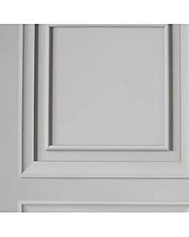 Fresco Wood Panel Light Grey Wallpaper