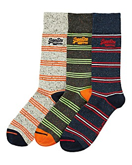 Superdry Pack of 3 Stripe Socks