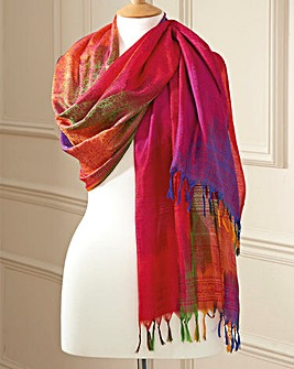 Pure Silk Rainbow Scarf