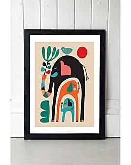 East End Prints Three Elephants by Rachel Lee Art Print