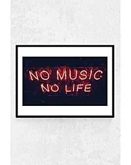 East End Prints No Music No Life Art Print