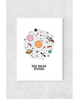 East End Prints The Solar System In White by Kid Of The Village Art Print