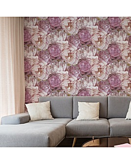 Fresco Pink Teasie Floral Wallpaper