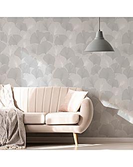 Superfresco Silver Ginko Leaf Wallpaper