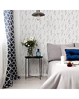 Fresco White/Silver Distressed Wallpaper