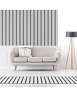 Superfresco White Stripe Flat Wallpaper