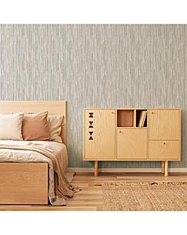 Fresco Grey/Gold Matrix Wallpaper