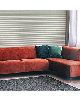 Superfresco Blue Stripe Woven Wallpaper