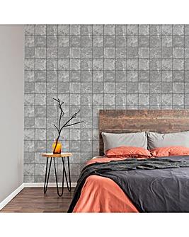 Fresco Concrete Tile Wallpaper