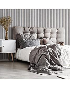 Superfresco Grey Stripe Woven Wallpaper