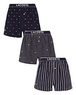 Lacoste 3 Pack Woven Boxer