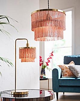 Tallulah Fringe 2 Tier Table Lamp