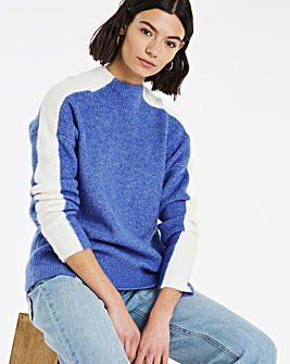 Stripe Jumper With Grown On Neck