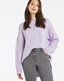 Stepped Back Hem Jumper