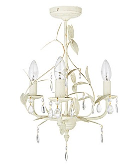 Darcy White Brushed 3 Ceiling Light