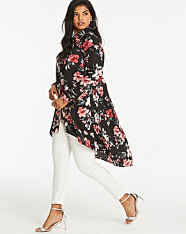 Lovedrobe Floral Pleat Back Blouse