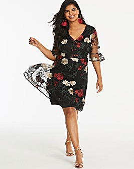 Lovedrobe Floral Embroidered Dress