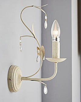 Darcy White Brushed Wall Light