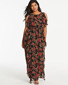 Lovedrobe Frill Maxi Dress