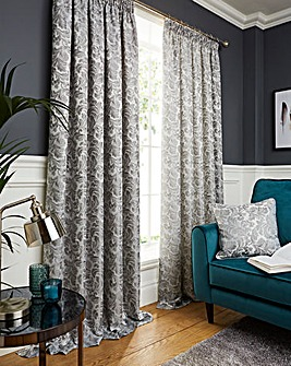 Buckingham Jaquard Pencil Pleat Lined Curtains
