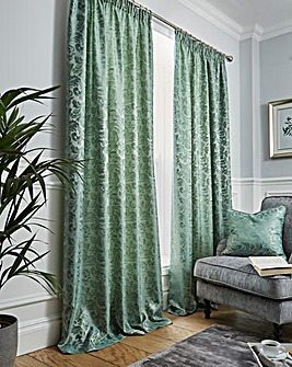 Buckingham Jacquard Pencil Pleat Lined Curtains