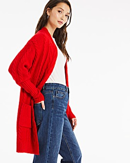 Cosy Deep Cuff Cable Cardigan