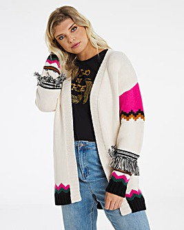 Cardigan With Fringing