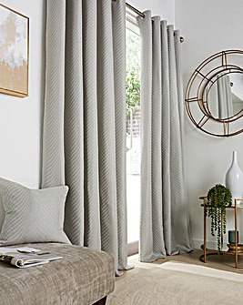 Neptune Jaquard Lined Eyelet Curtains