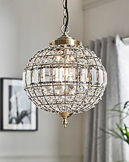Asteria Antique Brass Fitted Pendant