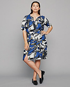 I.Scenery Vigga Leaf Print Dress