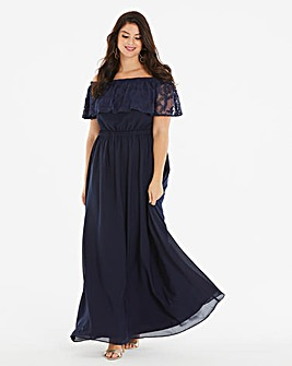 Lovedrobe Lace Bardot Maxi Dress