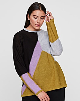 I.Scenery Nanu Colour Block Jumper