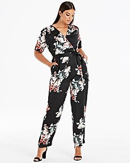 Lovedrobe Wrap Front Print Jumpsuit
