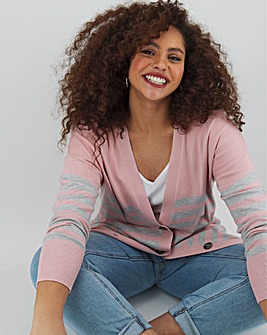 Blush/Grey Boyfriend Cardigan