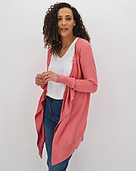 Dusted Coral Waterfall Cardigan