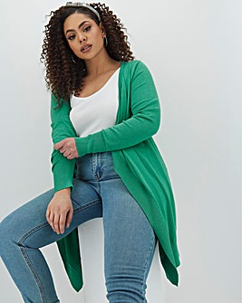 Jade Green Waterfall Cardigan