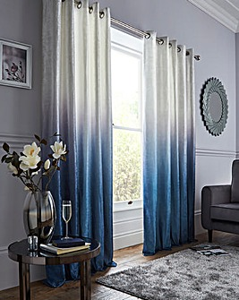 Lustre Ombre Velvet Eyelet Curtains