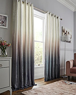 Lustre Ombre Velvet Heavyweight Eyelet Curtains