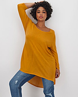 Saffron Dip Back Swing Tunic