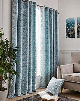 Willow Jaquard Lined Eyelet Curtains