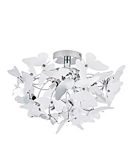 Flutter Chrome Ceiling Light