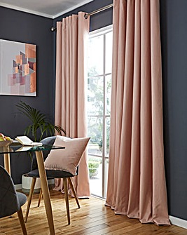 Libby Linen Effect Blackout Eyelet Curtains