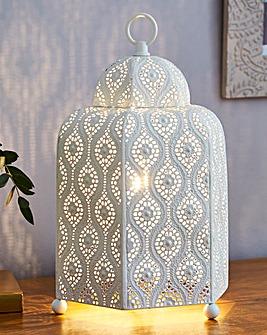 Tangier Cream Fretwork Table Lamp
